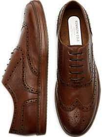 Kenneth Cole TECHNI-COLE Brown Wingtip Sneaker