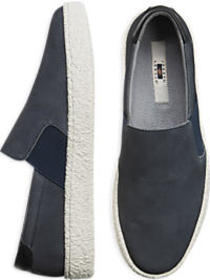 Joseph Abboud Denim Blue Slip-On Sneakers