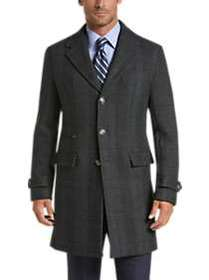 Joseph Abboud Charcoal Gray Plaid Modern Fit Topco