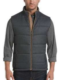 Joseph Abboud Charcoal Gray Modern Fit Quilted Ves