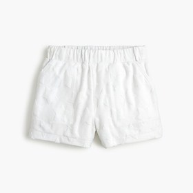 J. Crew Girls' pull-on terry short in burnout star
