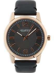 Awearness Kenneth Cole Rose Gold & Black Strap Wat