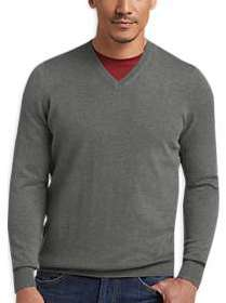 Joseph Abboud Charcoal V-Neck Sweater