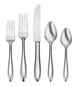 Oneida Patrician 1914 Beveled 45-Piece Stainless S