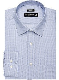 Pronto Uomo Blue Geometric Check Dress Shirt
