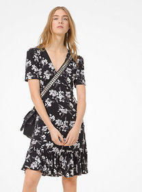 Michael Kors Botanical-Print Matte-Jersey Dress