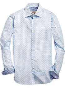 Joseph Abboud Blue Wave Pattern Sport Shirt