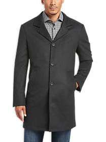 JOE Joseph Abboud Charcoal Tic Modern Fit Car Coat