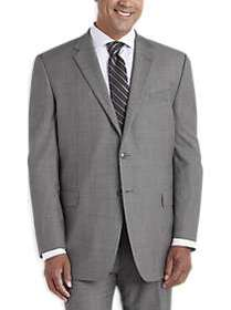 Joseph Abboud Gray Sharkskin Portly Suit Separates