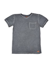 7 For All Mankind - Boys' Mineral-Washed V-Neck Te