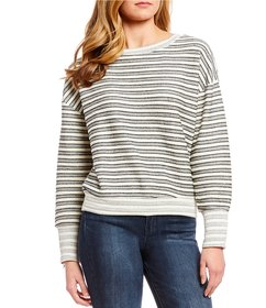 Jessica Simpson Geena Striped French Terry Sweater