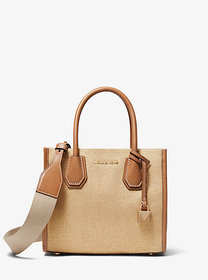 Michael Kors Mercer Metallic Canvas Crossbody