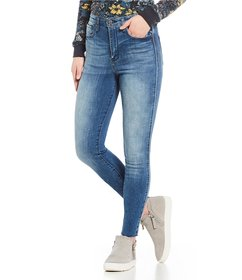 William Rast Side Piping High Rise Skinny Jeans