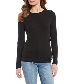Copper Key Long Sleeve Ribbed Knit Top