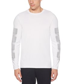 Perry Ellis Printed Stripe Performance Stretch Lon