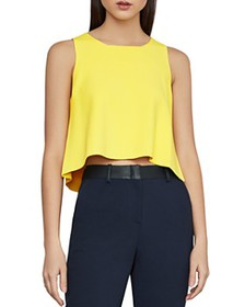 BCBGMAXAZRIA - Slit-Back Crop Top