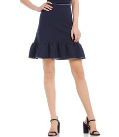 Gianni Bini Jason Ribbed Knit Skirt
