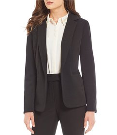 Investments Textured Open Front Jacket