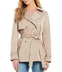 Cremieux Lindsay Tie Waist Double Breasted Trench