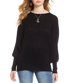 Gianni Bini Bethany Knit Bishop Sleeve Sweater