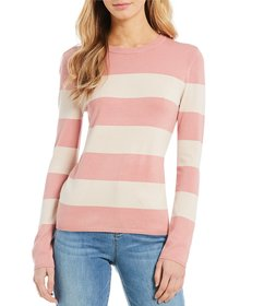Cremieux Nancy Striped Crew Neck Sweater