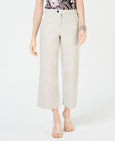 I.N.C. Zip-Front Wide-Leg Pants, Created for Macy'