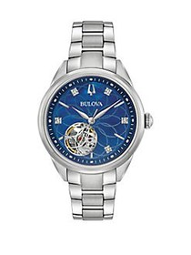 Bulova Classics Automatic Stainless Steel and Diam