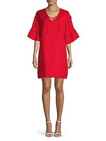 Context Boho Ruffled Mini Dress TOMATO RED