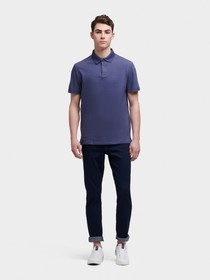 Donna Karan THIN-STRIPED POLO