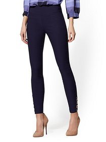 Whitney O-Ring High-Waist Pull-On Ankle Pant - New