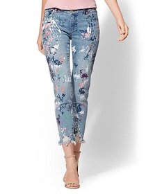 Destroyed Paint-Splattered Boyfriend Jeans - Soho