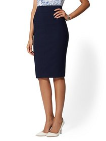 Seamed Pencil Skirt - All-Season Stretch - 7th Ave