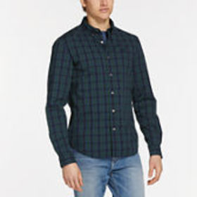 Timberland Men's Saco River Slim Fit Stretch Check