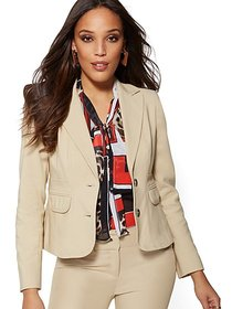 Tan Two-Button Blazer - All-Season Stretch - 7th A