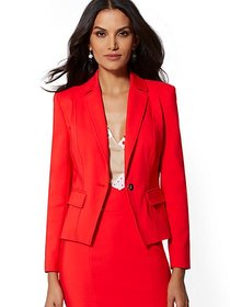 Red One-Button Jacket - All-Season Stretch - 7th A
