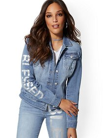 Denim Jacket - Lavish Blue - New York & Company