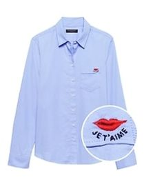 Petite Quinn Straight-Fit Oxford Shirt