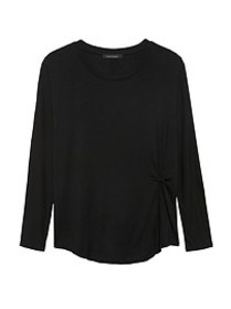 Petite Soft Stretch Twist Front T-Shirt