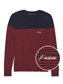 J'adore Stripe Pocket Sweater