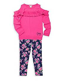 Juicy Couture Little Girl's 2-Piece Cold-Shoulder