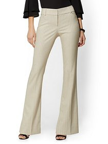 Bootcut Pant - Modern Fit - Pinstripe - 7th Avenue