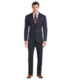 Jos Bank Traveler Slim Fit 2-Button Wool Suit with
