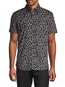 Ben Sherman Scattered Scratch Print Short-Sleeve S