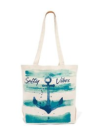 """""""Salty Vibes"""" Canvas Tote Bag - New York & Company"""