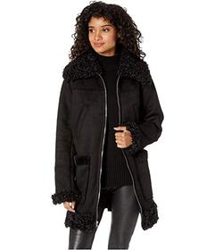 Sam Edelman 3\u002F4 Faux Shearling Coat