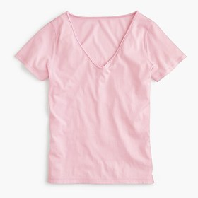 J. Crew Supersoft Supima® raw-edge V-neck T-shirt