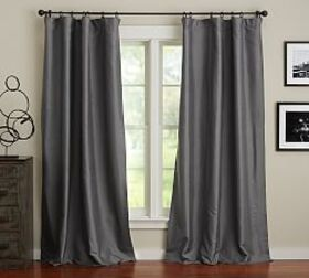 Pottery Barn Dupioni Silk Pole-Pocket Blackout Cur