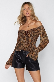 Nasty Gal Hissy Fit Snake Top