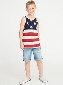 Relaxed Printed Tank for Boys