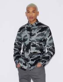 Armani SHIRT WITH CAMOUFLAGE PRINT